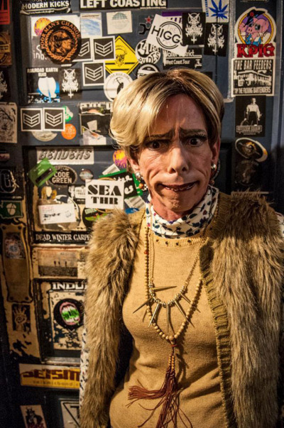 Bob McIntyre is Jerri Blank in Strangers with XXXmas Candy. Photo courtesy of Dreams on the Rocks Productions.