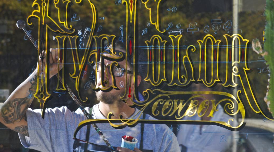 Ken Davis' work in progress at Five Color Cowboy in San Jose. (Photo courtesy Johnny Granado)