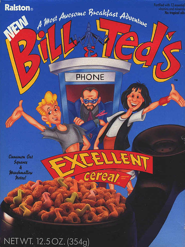 Bill & Ted's Excellent Cereal, 1990; courtesy billandted.org