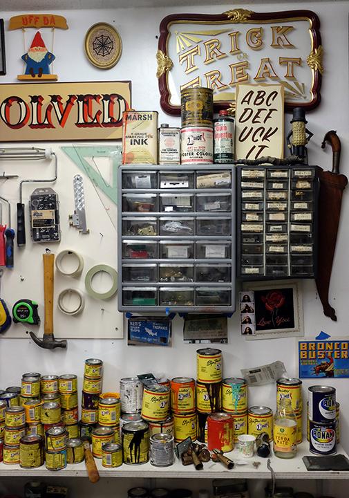 Ken Davis' studio. (Photo: Cherri Lakey)