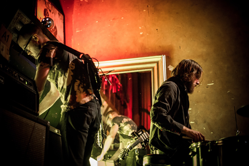 Two Gallants on stage at Oakland's Cafe Van Kleef. (Photo: Sara Sanger)
