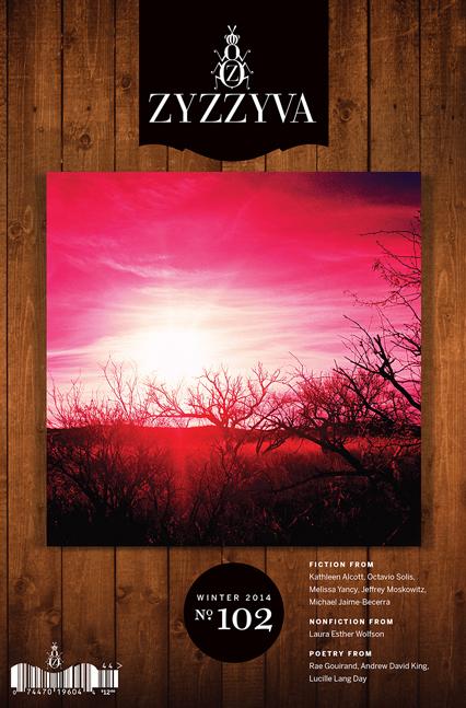 Winter 2014 issue of Zyzzyva.  Image courtesy of Zyzzyva.