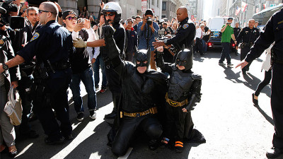 Scene from Batkid Begins: The Wish Heard Around the World