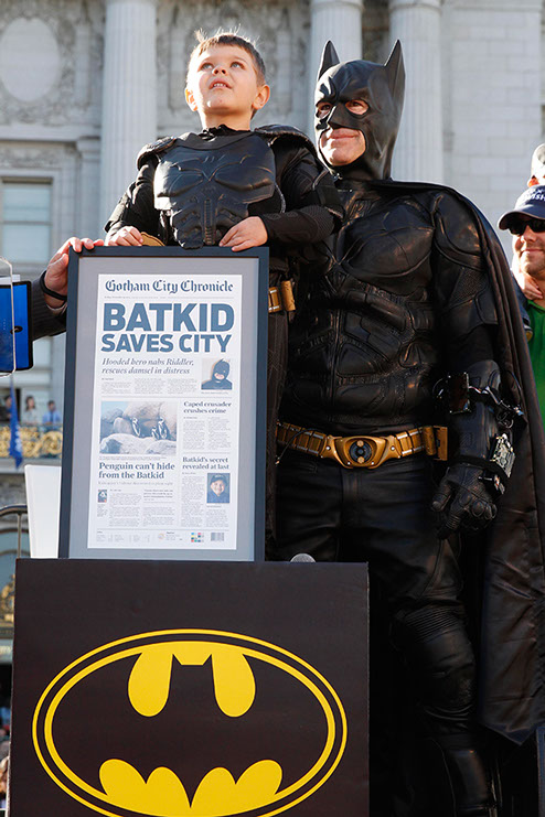 Scene from <i>Batkid Begins</i> from  John Crane Films