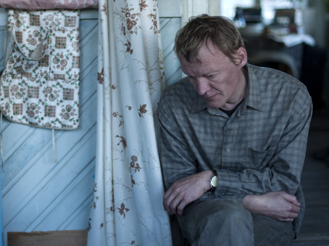 Aleksey Serebryakov is Kolya, whose despairing battle against the Russian state is well-lubricated with vodka.