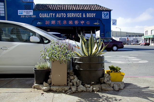 Kathy Sloane, from <b>Gardens, Garages and Garbage Cans</b>, 2014; Courtesy Random Parts, Oakland