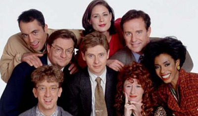 The cast of NewsRadio, back in the day.