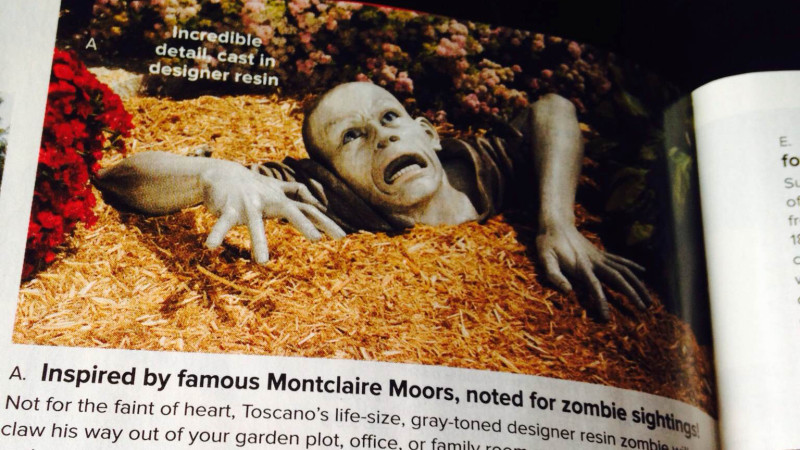 """Many NPR readers wrote in lamenting the possible loss of the """"Zombie of Montclair Moors"""" statue."""