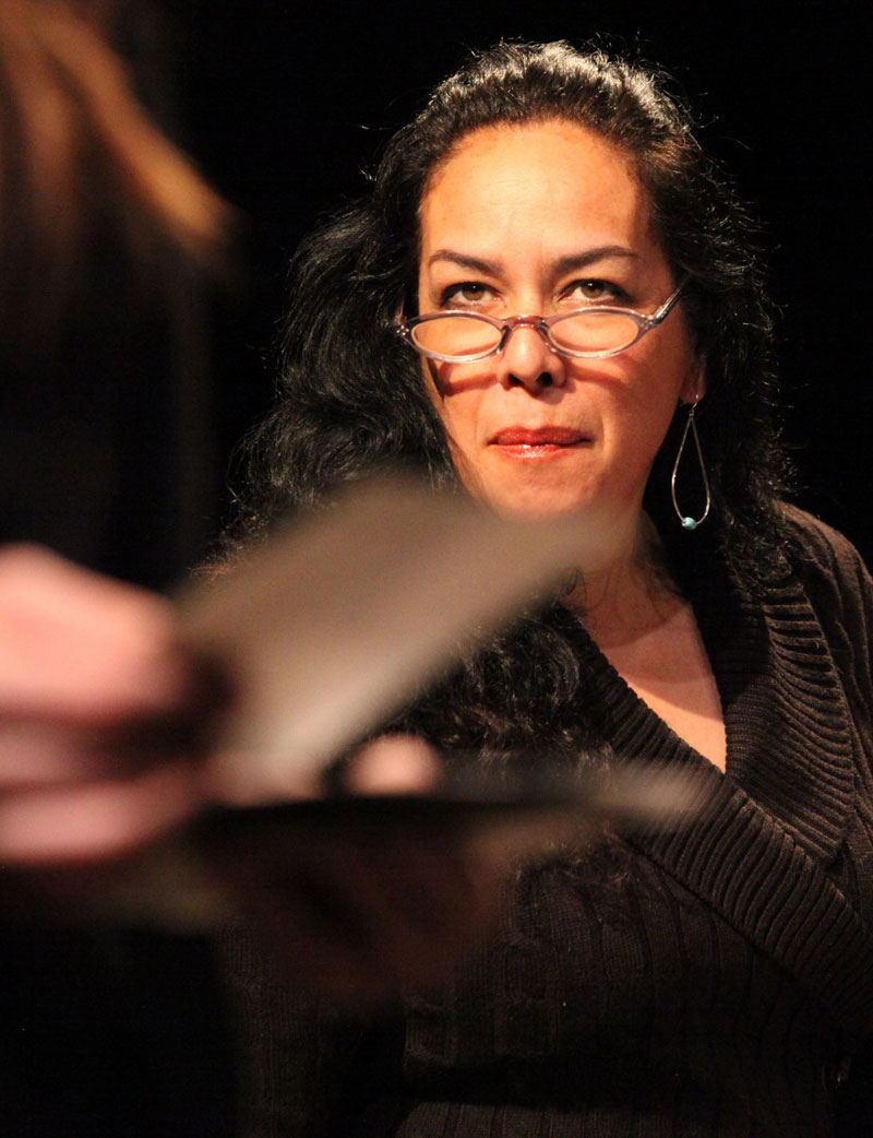 Lorraine (Catherine Castellanos) looks after her son Jake in Magic Theatre's A Lie of the Mind.