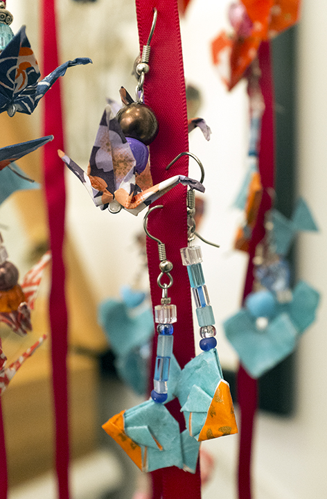 Origami earrings at Petite Galleria. (Photo: Cherri Lakey)