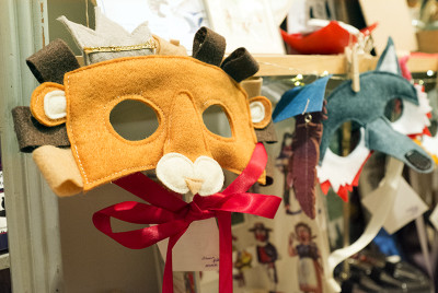 Animal masks at Petite Galleria. (Photo: Cherri Lakey)