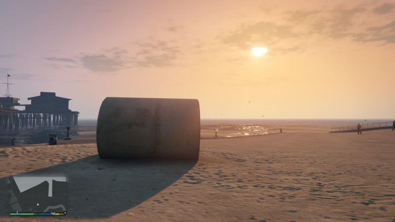 The world of Grand Theft Auto V is beautiful when explored in first person. It's also inescapably violent.