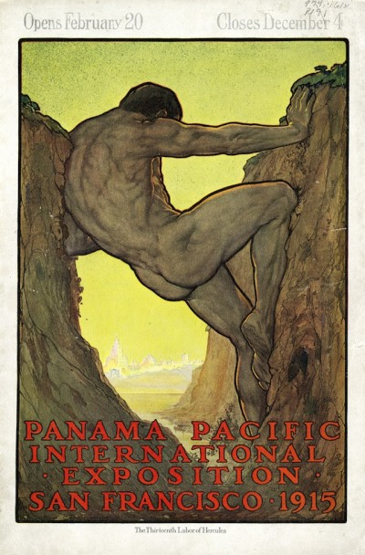 Perham Wilhelm NahlThe Thirteenth Labor of Hercules in Panama-Pacific International Exposition, 1915. Published by PPIE Co., c1914. Courtesy California Historical Society.