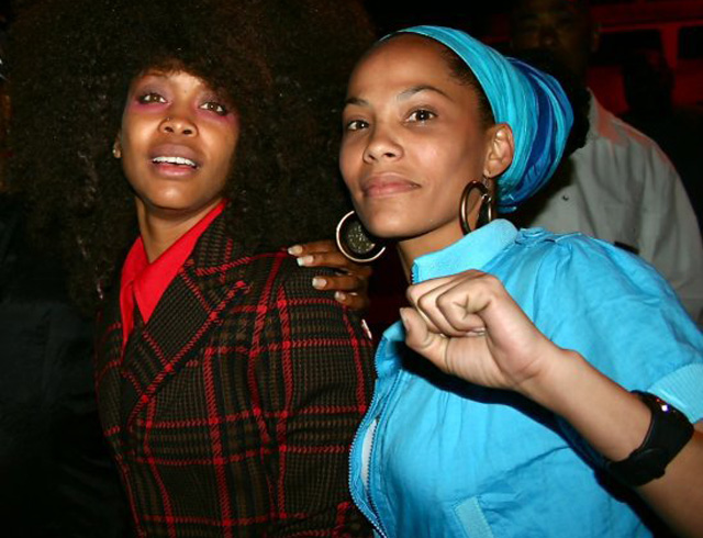 Friere with Erykah Badu at a recent show together. (Photo: DJ Leydis Facebook)