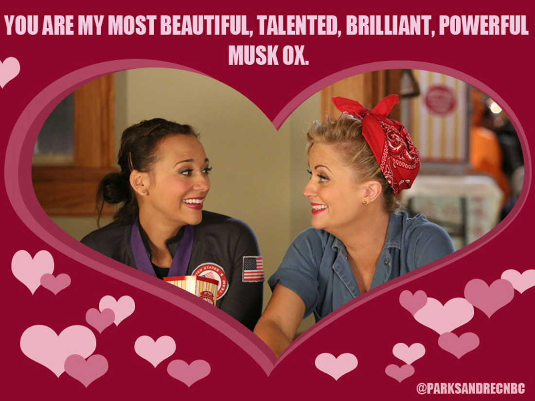 Parks and Recreation Galentine, 2013; courtesy NBC