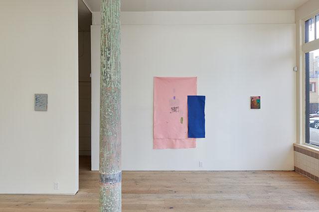 Installation view of Teresa Baker and Jenny Monick at Kiria Koula, 2015 (Photo by Johnna Arnold; Courtesy of Kiria Koula)