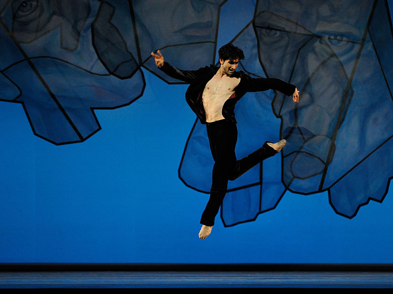 "San Francisco Ballet's Davit Karapetyan as the Shostakovich-like figure in the ""Chamber Symphony""  middle section of Alexei Ratmansky's ""Shostakovich Trilogy."""