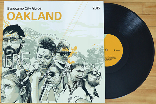 The gatefold LP includes extensive liner notes about The Town. (Courtesy Bandcamp)