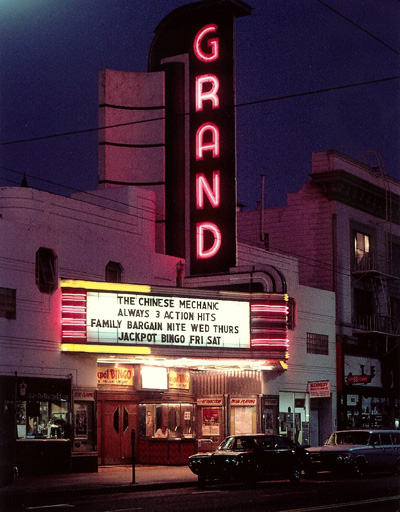 The Grand Theater in 1975. (Photo courtesy San Francisco History Association)