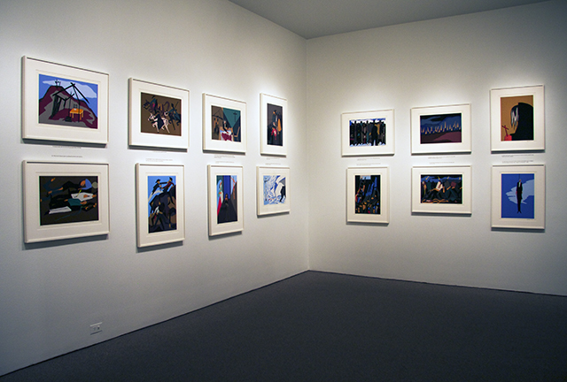 Installation view of The Legend of John Brown, 1978. (Gift of Joelle Kayden © 2015 The Jacob and Gwendolyn Lawrence Foundation, Seattle / Artists Rights Society (ARS), New York)