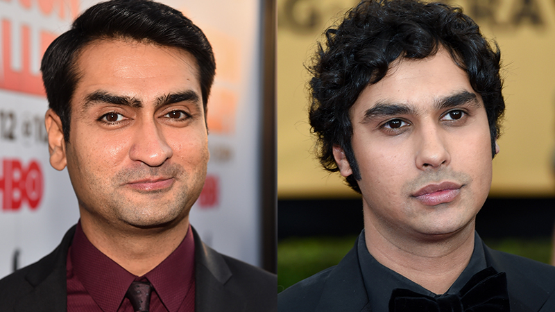 Kumail Nanjiani (left) and Kunal Nayyar (right) (Photos from Getty Images)