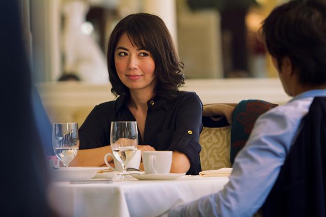 Ayako Fujitani as Aki in Man from Reno.
