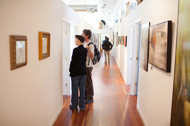Visitors during an open studios event at Studio 17. (Courtesy of Studio 17)
