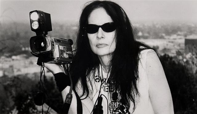 Penelope Spheers on the set of We Sold Our Souls for Rock 'n Roll, 2001. (Courtesy of Spheeris Films)