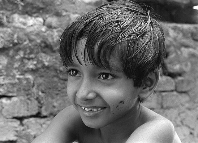 Subir Banerjee as Apu in <i>Pather Panchali</i>. (Courtesy of Janus Films)