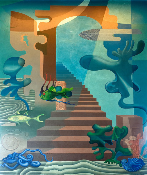 Hilaire Hiler, Aquatic Park Bathhouse mural, 1939. (Courtesy of San Francisco Maritime National Historical Park / Creative Commons)