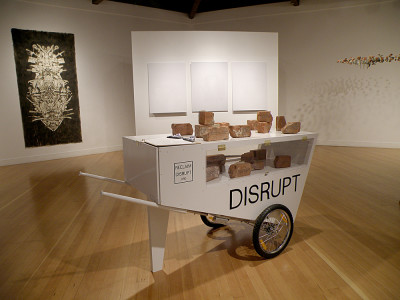 Installation view with work by Tanja Geis, Michelle Ott and Leslie Dreyer. (Courtesy of the Berkeley Art Center)