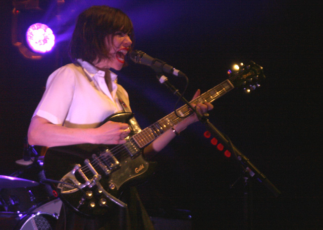 Carrie Brownstein of Sleater-Kinney at the Masonic. May 2, 2015. (Photo: Gabe Meline)