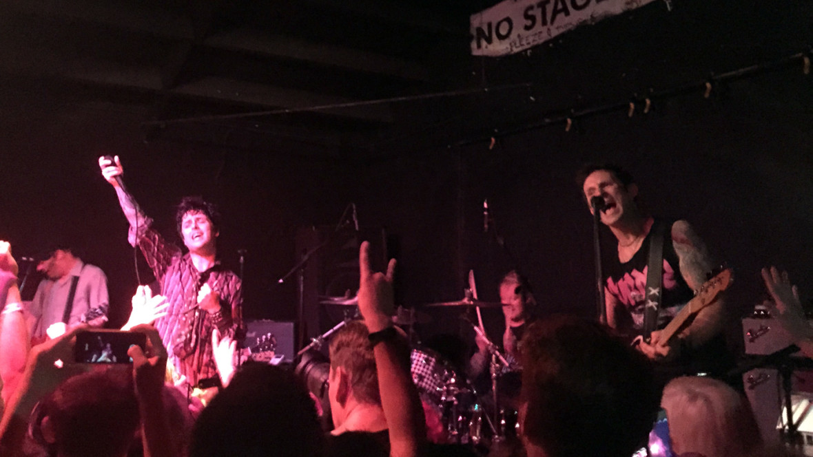 Green Day returning to 924 Gilman, May 17, 2015. Gabe Meline
