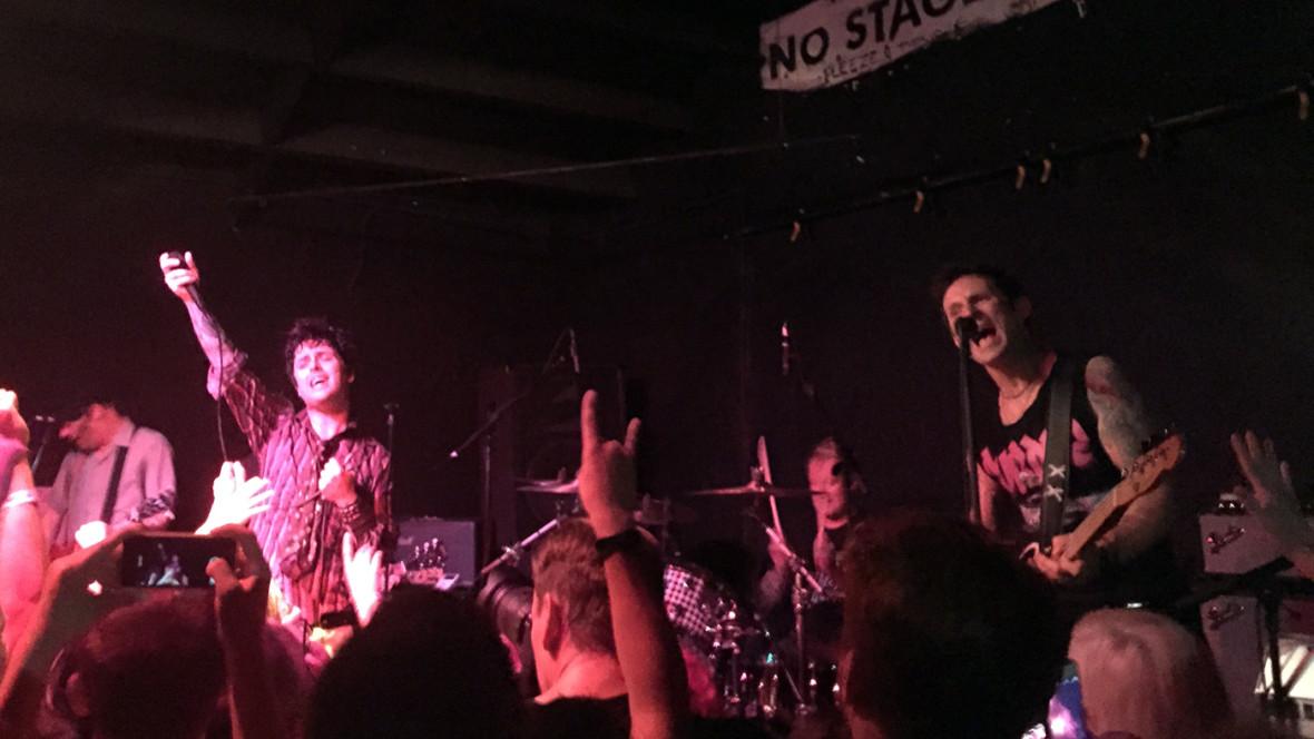 Green Day returning to 924 Gilman, May 17, 2015. Gabe Meline