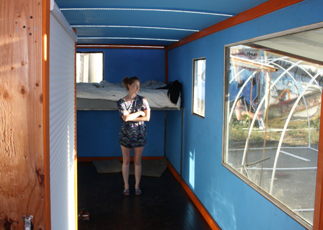 Heather Stewart inside one of her Boxouse homes.
