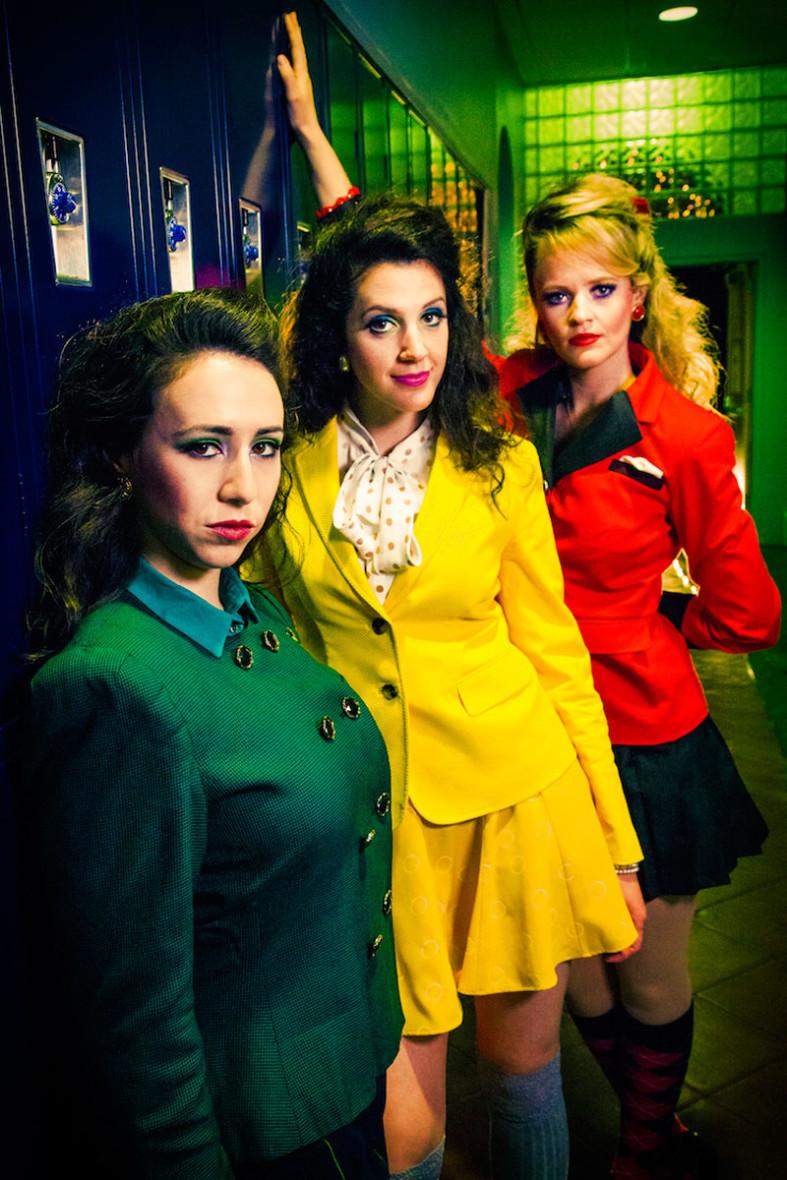 Samantha Cardenas, Lizzie Moss and Jocelyn Pickett in Heathers: The Musical. (Photo: Erik Scanlon.)