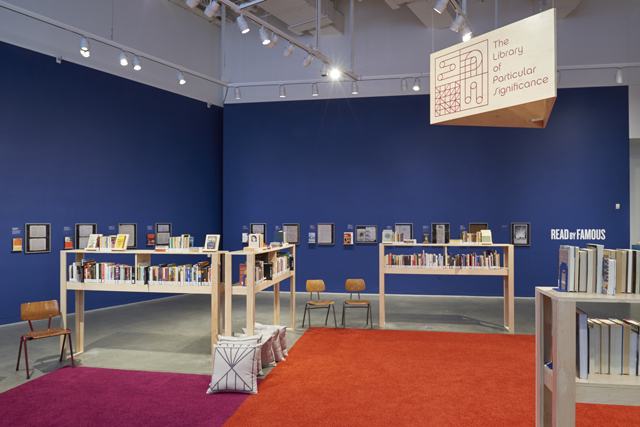 Installation view of <i>The Library of Particular Significance</i>. (Photo by Johnna Arnold)