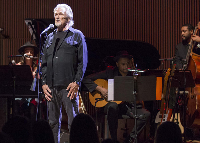 Kris Kristofferson performs at SFJAZZ's tribute to Joni Mitchell, May 8, 2015. (Photo: Drew Altizer Photography)