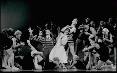 "Oakland Ballet in Bronislava Nijinksa's ""Le Train Bleu"" in 1996. (Photo: Emilio Mercado)"