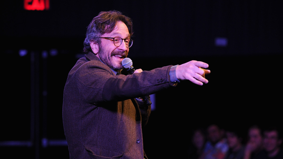 Marc Maron on stage in 2014 (Photo by Bryan Bedder/Getty Images for The New Yorker)