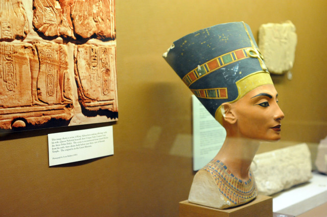 Queen Nefertiti replica. (Photo by Adrienne Blaine)