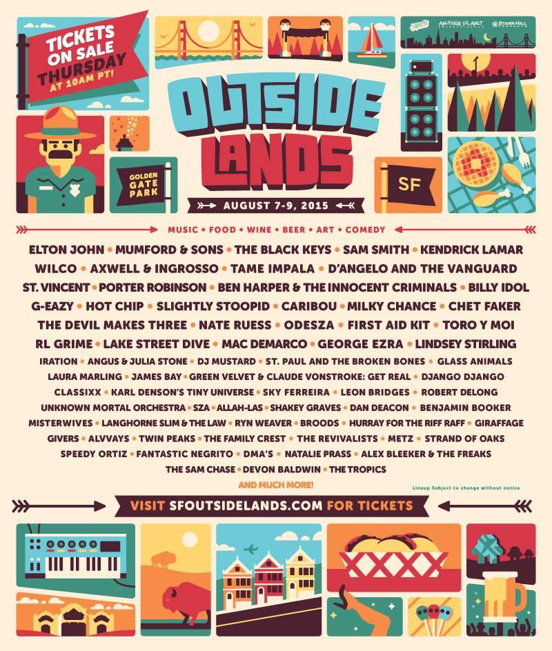 Outside Lands 2015 Poster