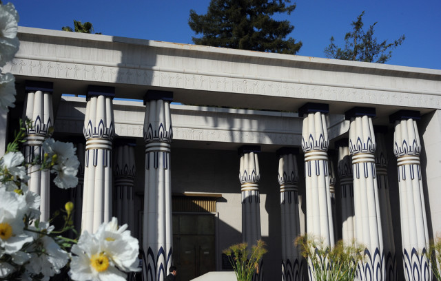 The entrance to the Rosicrucian Egyptian Museum, built in 1966. (Photo by Adrienne Blaine)