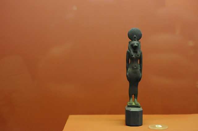 Sekhmet figurine: the first ancient artifact in the AMORC collection. (Photo by Adrienne Blaine)