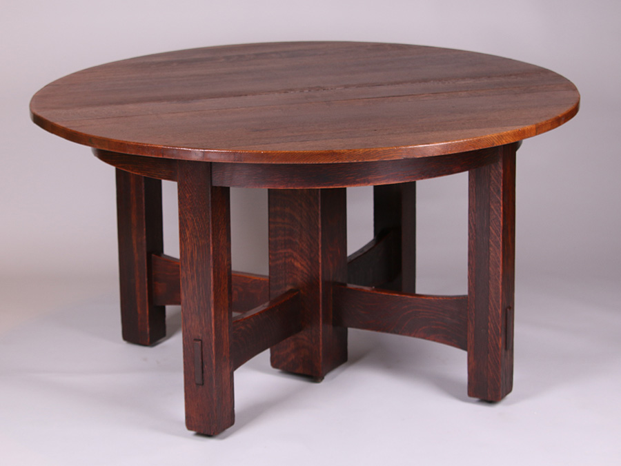Gustav Stickley dining table given by Gustav Stickley and his wife to Lamont Warner (his chief furniture designer) as a wedding present in 1903. (Courtesy of California Historical Design)