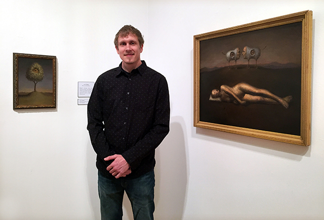 Artist Avery Palmer at The Triton Museum of Art .