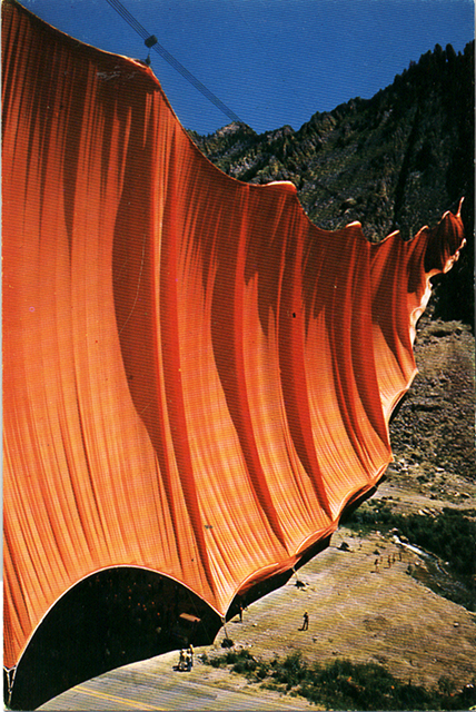 Christo's Valley Curtain, 1973. (Courtesy of Maysles Films)
