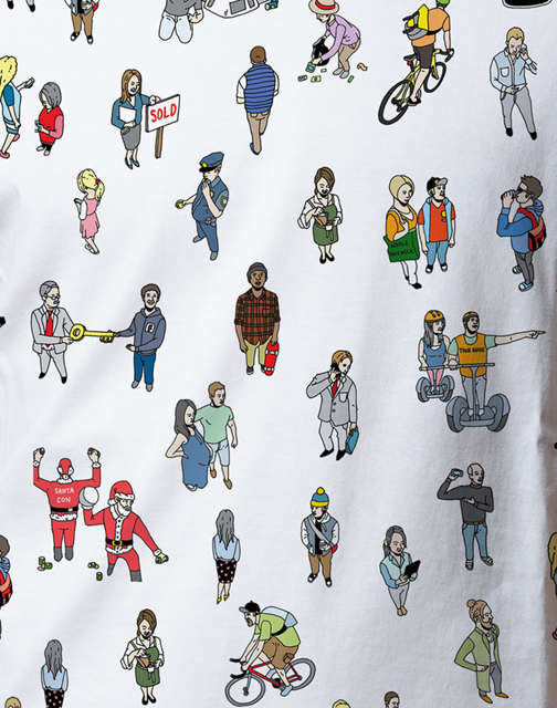 "A close up the ""Where's Jimmie"" t-shirt The Last Black Man in San Francisco made for the film's Kickstarter campaign. (Courtesy of Joe Talbot)"