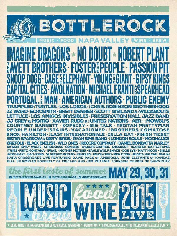 Bottlerock Napa 2015 Poster