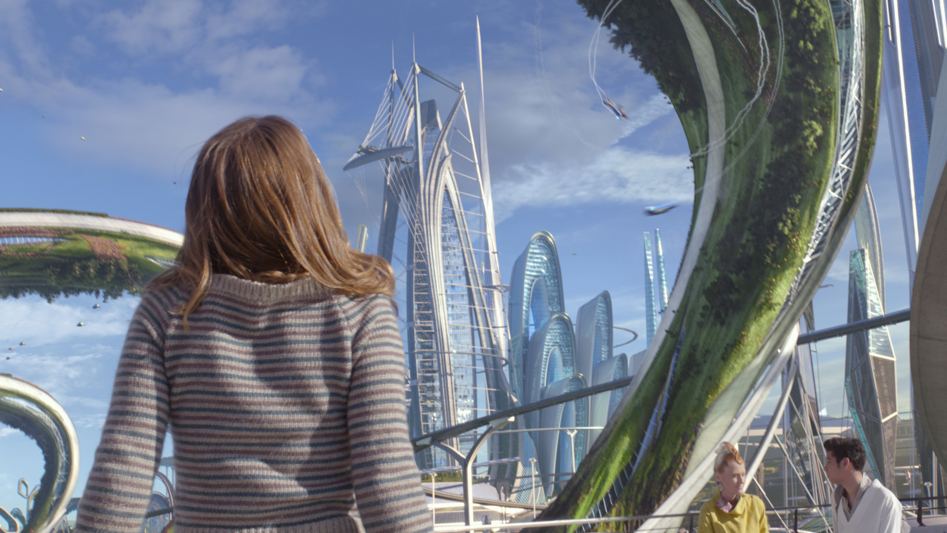 Casey (Britt Robertson) experiencesa fantastic futuristic world in Tomorrowland. (Courtesy of Disney)
